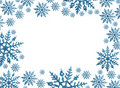 Snowflake Border Stock Photo