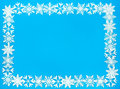 Snowflake Border and Background Frame Royalty Free Stock Photo