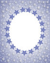 Snowflake Border winter Frame  Royalty Free Stock Photo