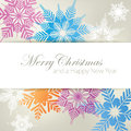 Snowflake Christmas Background Royalty Free Stock Images