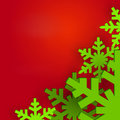 Snowflake Christmas background Stock Images