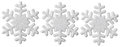 Snowflake Christmas Decoration, White Isolated Xmas Snow Flake Royalty Free Stock Photo