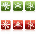 Snowflake Christmas Icons Stock Image