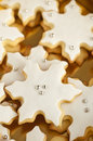 Snowflake cookies Royalty Free Stock Image