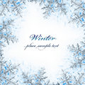 Snowflake decorative frame Royalty Free Stock Images