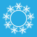 Snowflake design for frame background. Vector illustration. Winter pattern. Fashion Graphic . White and blue colors. Template for Royalty Free Stock Photo