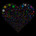 Snowflake Fireworks Heart