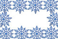 Snowflake frame Royalty Free Stock Photos