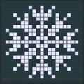 Snowflake game design Royalty Free Stock Photo
