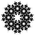 Snowflake Glyph Vector Symbol