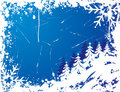 Snowflake grunge frame, elements for design, vector Royalty Free Stock Photos