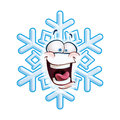 Snowflake head lol cartoon illustration of a emoticon laughing out loud Stock Images