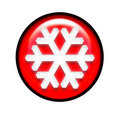 Snowflake icon 6 Royalty Free Stock Images