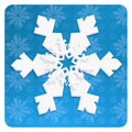 SNOWFLAKE wallpaper craft christmas blue decoration Royalty Free Stock Photo