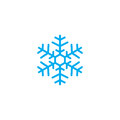 Snowflake icon isolated on white background. Vector illustration.