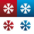 Snowflake icon set Royalty Free Stock Photography