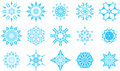 Snowflake icons Royalty Free Stock Photo