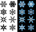 Snowflake Icons Royalty Free Stock Images
