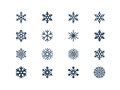 Snowflake icons set of snow flake Stock Photo