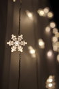 Snowflake lights beautiful in the christmas Stock Photography
