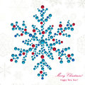 Snowflake made of beads big shiny christmas background Stock Images