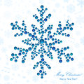 Snowflake made of beads big shiny christmas background Stock Photography