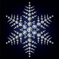 Snowflake made from diamonds Royalty Free Stock Photography