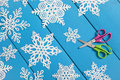 Snowflake paper crafts snowflakes cut from a traditional christmas arts and project Stock Photo