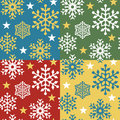 Snowflake Pattern_4 Colorways Stock Image