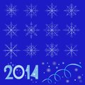 Snowflake pattern illustration Stock Images