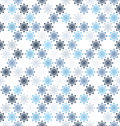 Snowflake pattern. Seamless vector winter background