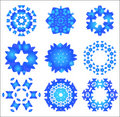Snowflake pattern set Royalty Free Stock Photography