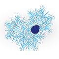 Snowflake pinned vector Royalty Free Stock Images