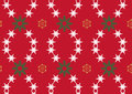 Snowflake on Red Background Royalty Free Stock Photography