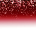 Snowflake on red background Stock Photos