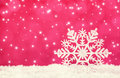 Snowflake on red background christmas time Royalty Free Stock Photos