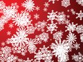 Snowflake red new Stock Photography