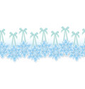 Snowflake on ribbon border vector Stock Images