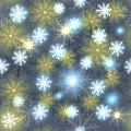 Snowflake seamless pattern holiday illustration winter vector Stock Images