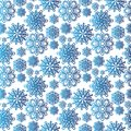 Snowflake season nature winter snow symbol frozen ice xmas element and christmas frost seamless pattern background Royalty Free Stock Photo