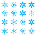 Snowflake set Royalty Free Stock Photography