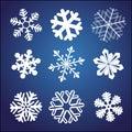 Snowflake set Royalty Free Stock Photos