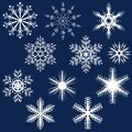Snowflake Set Royalty Free Stock Photo