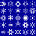Snowflake Set Royalty Free Stock Photos