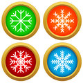 Snowflake set new on a white background vector illustration Royalty Free Stock Photography