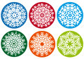 Snowflake set, vector design elements Royalty Free Stock Photography