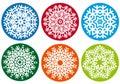Snowflake set, vector design elements Royalty Free Stock Photo