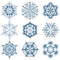 Snowflake shapes Royalty Free Stock Photo