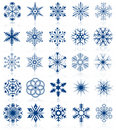 Snowflake shapes set 2 Stock Photography