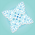 Snowflake sticker vector  Royalty Free Stock Photos